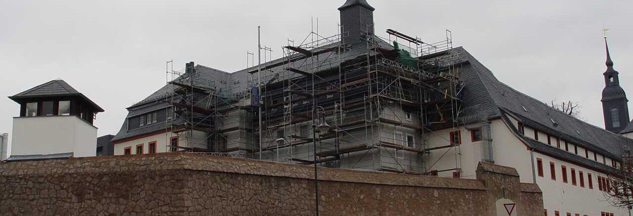 Dach kurz vor Fertigstellung